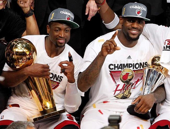 Wade et James ont apprécié le moment