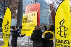 La place des Festivals renommée temporairement «place des Droits humains»
