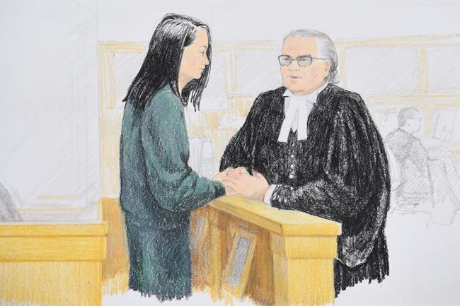 La directrice de Huawei libérée sous caution