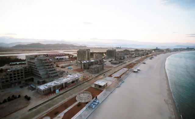 En Corée du Nord, un gigantesque complexe balnéaire en voie d'être achevé
