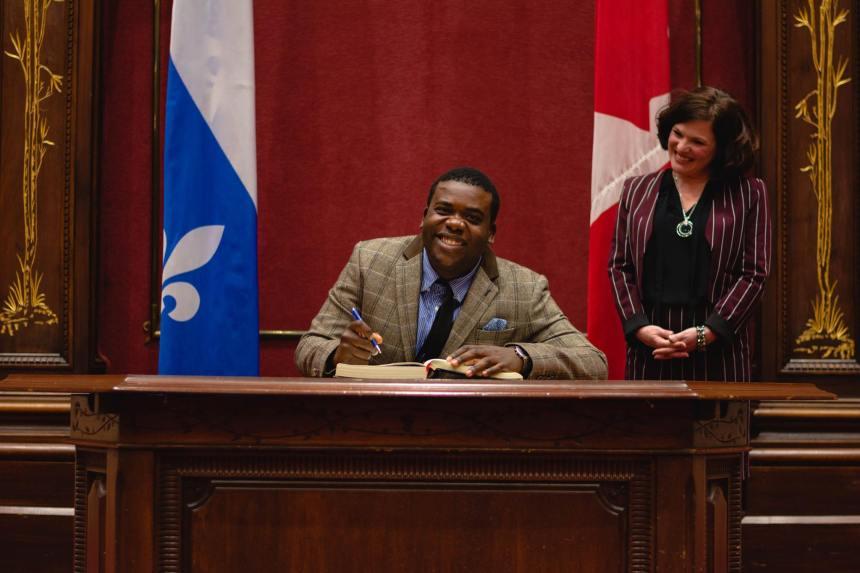 Un jeune de LaSalle au Parlement étudiant du Québec
