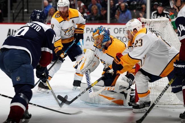 Les Predators battent l'Avalanche, 4-1