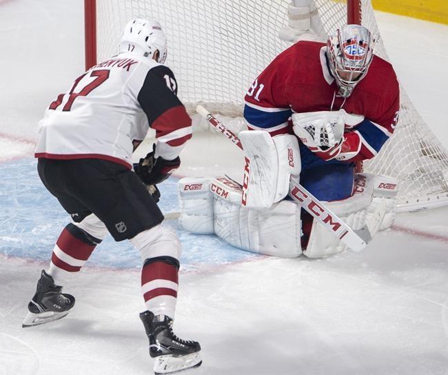 Le Canadien défait les Coyotes 2-1