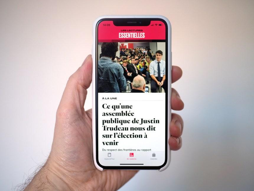 Aperçu d'Apple News en français au Canada