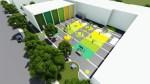 Une des trois futures cours d'école prévues par la CSDM.