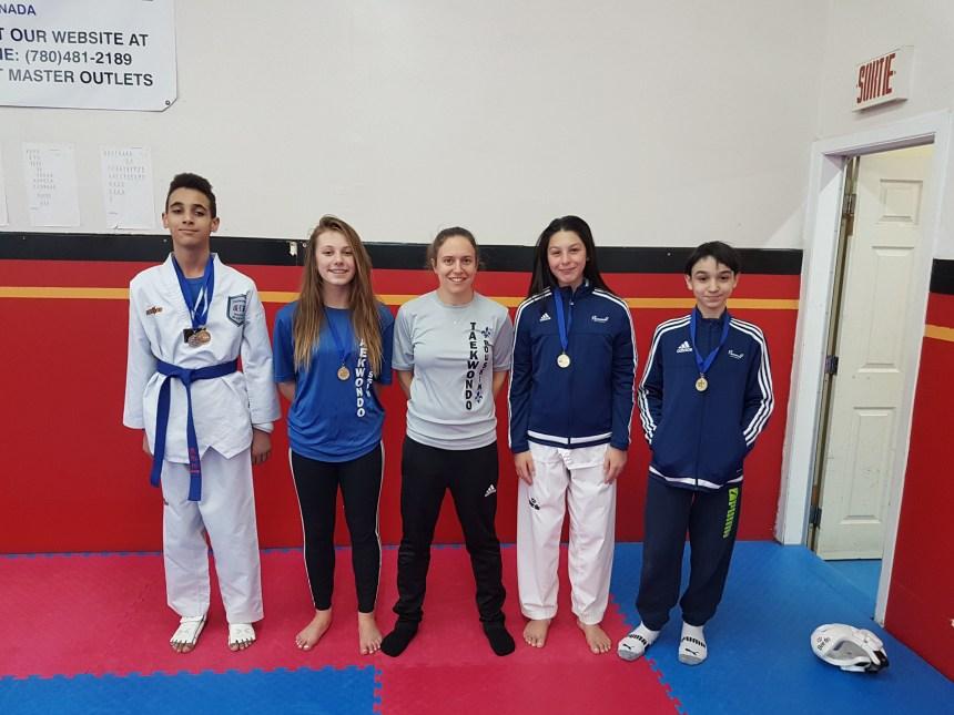 Quatre taekwondoïstes pointeliers en route vers les Jeux du Québec