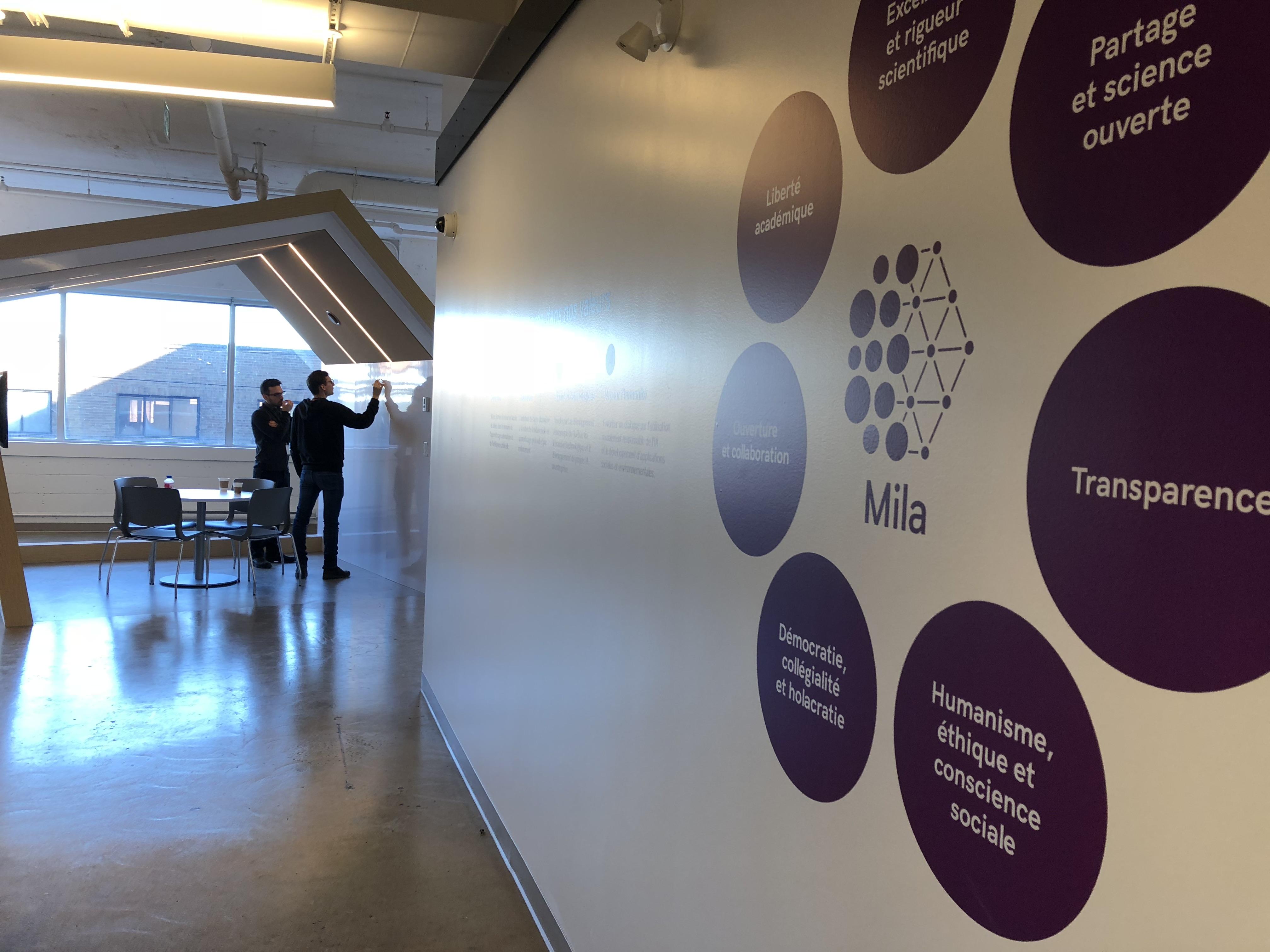 Visite dans les bureaux de l institut québécois d intelligence