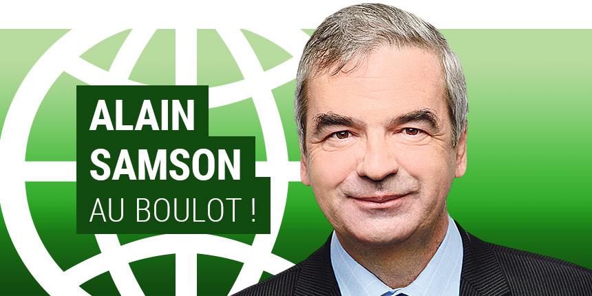 Bannière web du chroniqueur Alain Samson pour le journal Métro