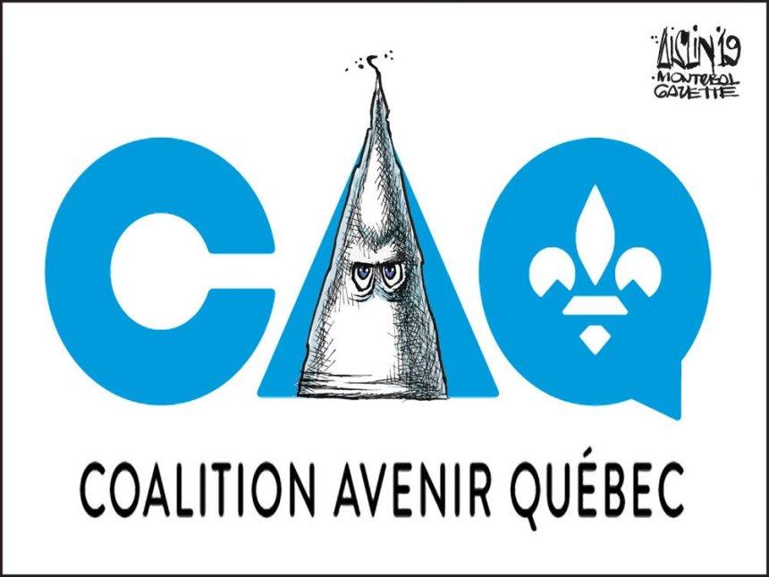 Une caricature est rejetée par The Gazette pour avoir associé CAQ et KKK
