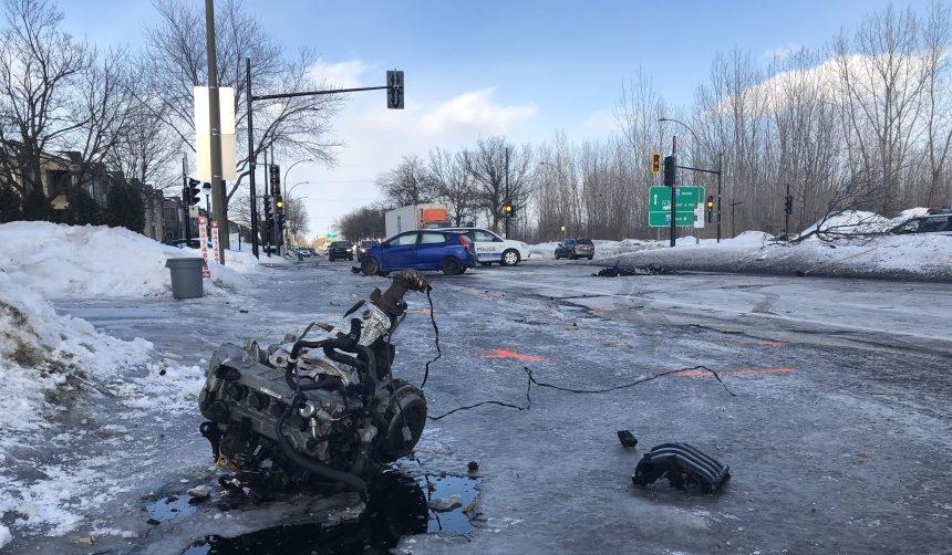 Trois adolescents arrêtés après une collision à Rivière-des-Prairies
