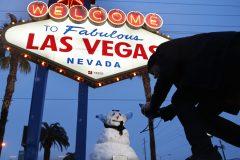 La ville de Las Vegas est recouverte d'un tapis de neige
