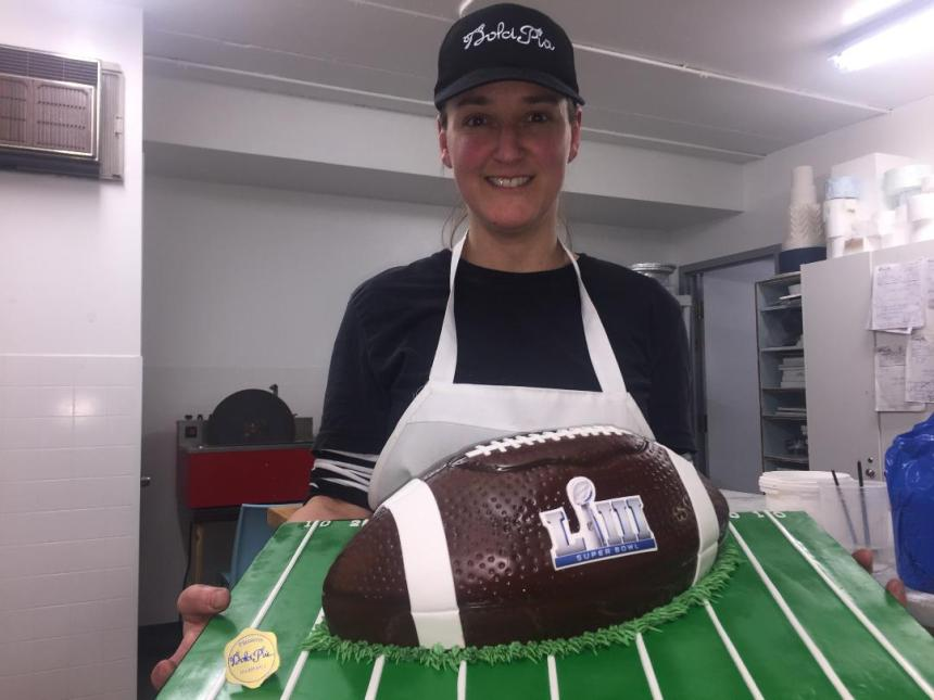 Baking a Super Bowl cake in Saint Laurent!