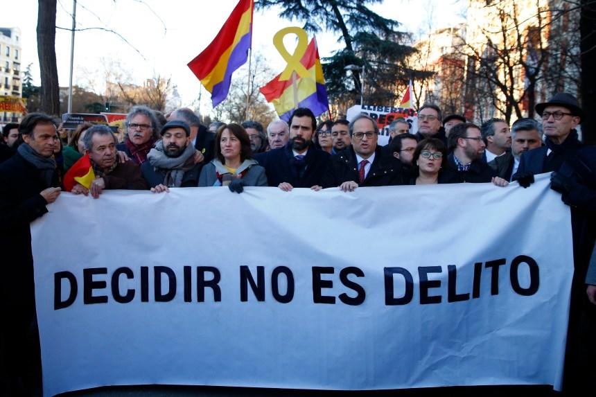 Début du procès historique des dirigeants indépendantistes catalans