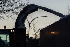 Tempête: déjà une cinquième opération de chargement de la neige à Montréal