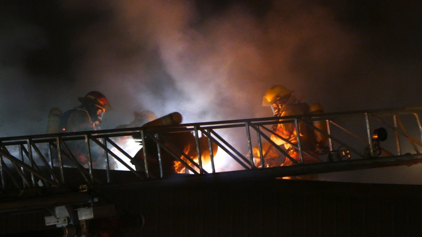 L'incendie sur Notre-Dame, à Montréal-Est, d'origine suspecte