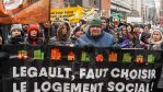 Des manifestants du FRAPRU