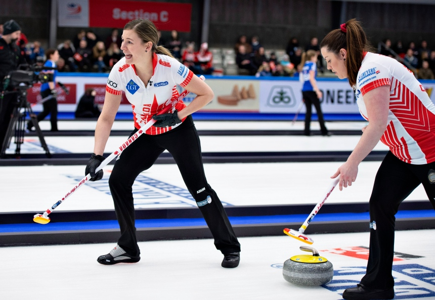 Le Canada en difficulté après deux autres défaites au Mondial de curling féminin