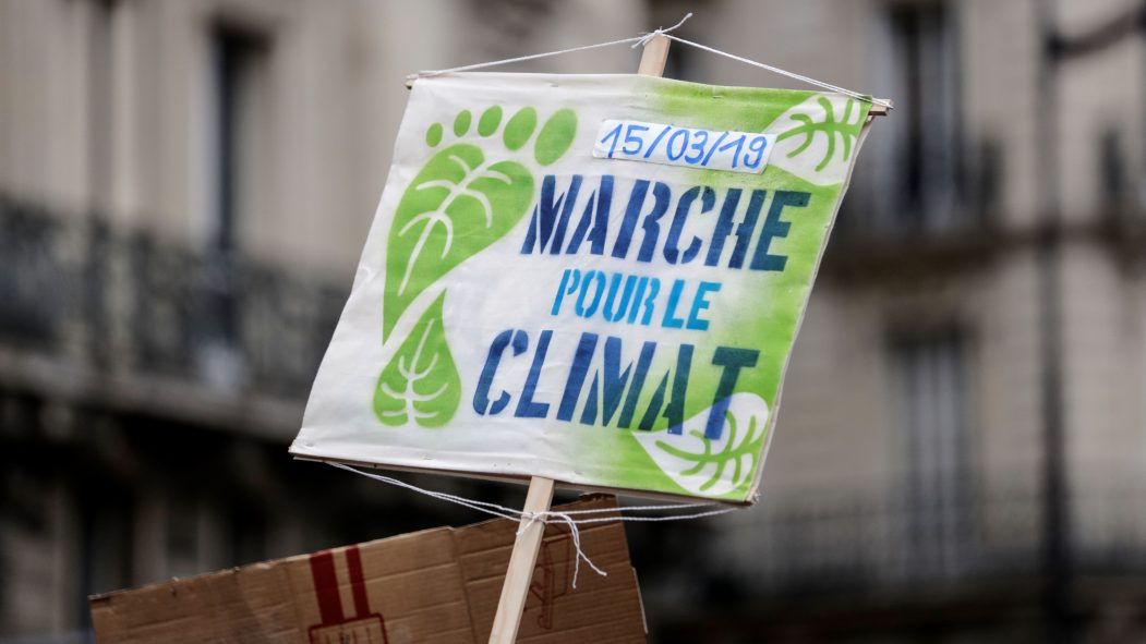 Une pancarte lors de la manifestation pour le climat du 15 mars