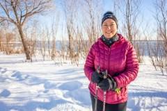 Une technologie pour le diabète qui change la donne pour une adepte de la marche nordique au Québec