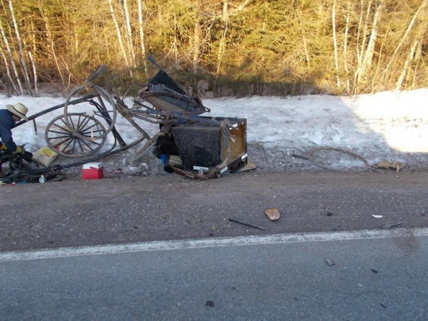 Un boguey amish est détruit dans une collision à l'Île-du-Prince-Édouard