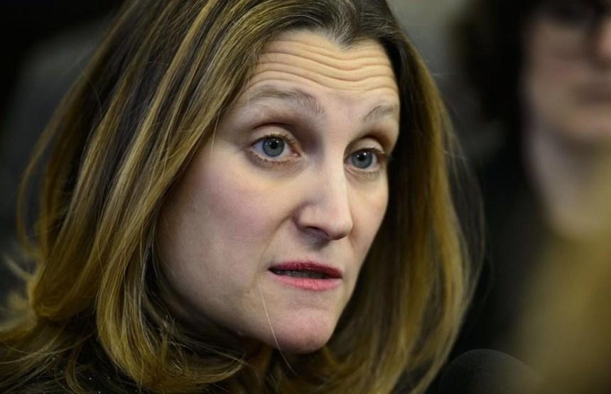 Freeland a discuté des tarifs lors d'une rencontre sur l'ALENA à Washington