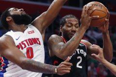 Les Pistons battent les Raptors 110-107 et complètent le balayage en saison