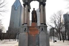 Nouvel acte de vandalisme commis au monument de John A. Macdonald