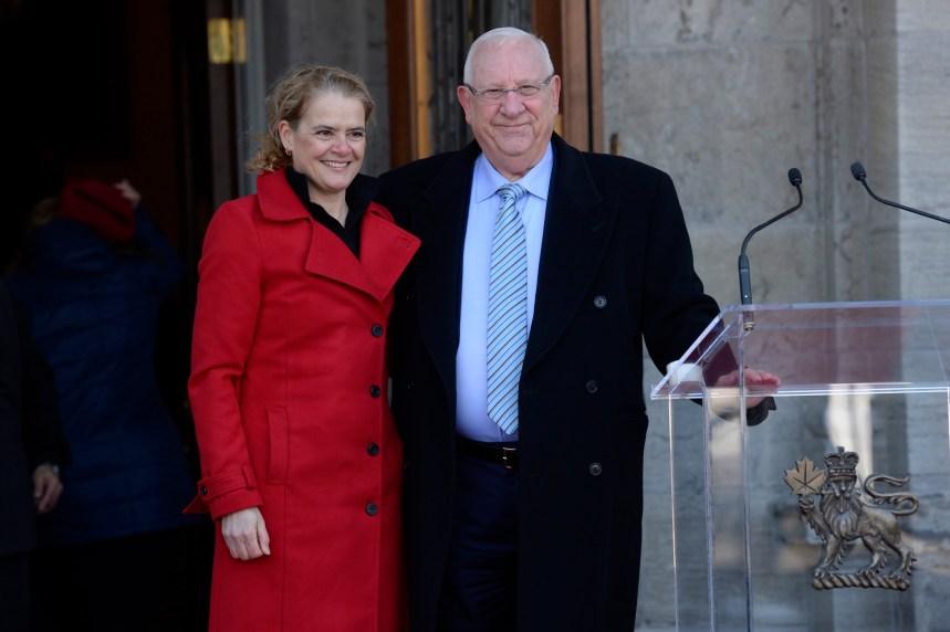 Le président israélien en visite à Ottawa