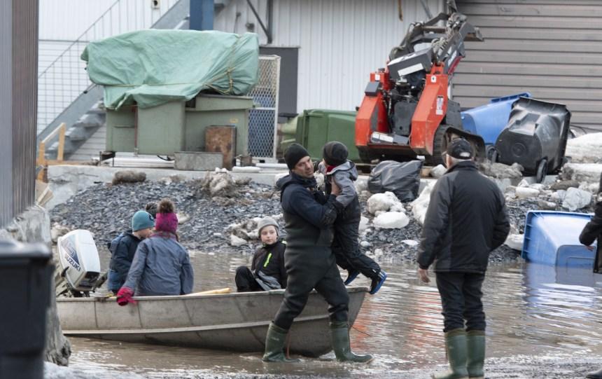 Inondations à Beauceville: une route fermée