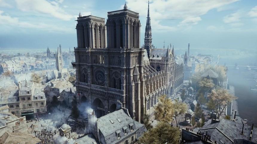Ubisoft offre la version numérique de Notre-Dame d'«Assassin Creed» en réconfort