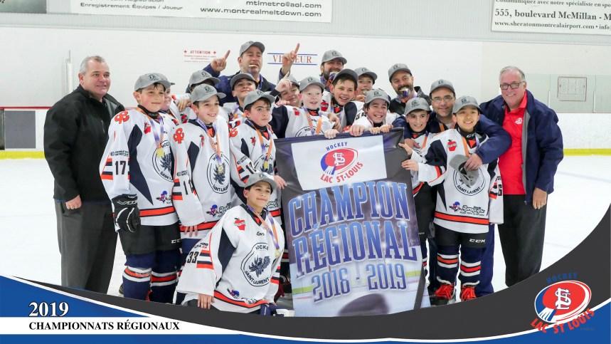 Hockey: podium régional pour les Dragons de Saint-Laurent