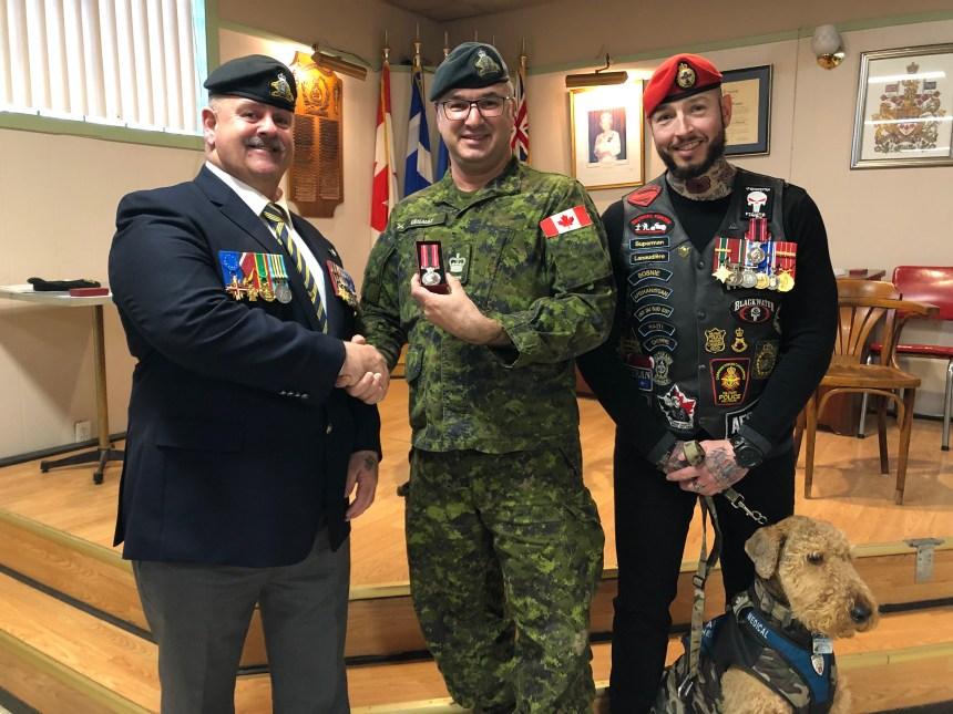 Filiale 173 de Montréal-Est: deux vétérans honorés de la Médaille du sacrifice