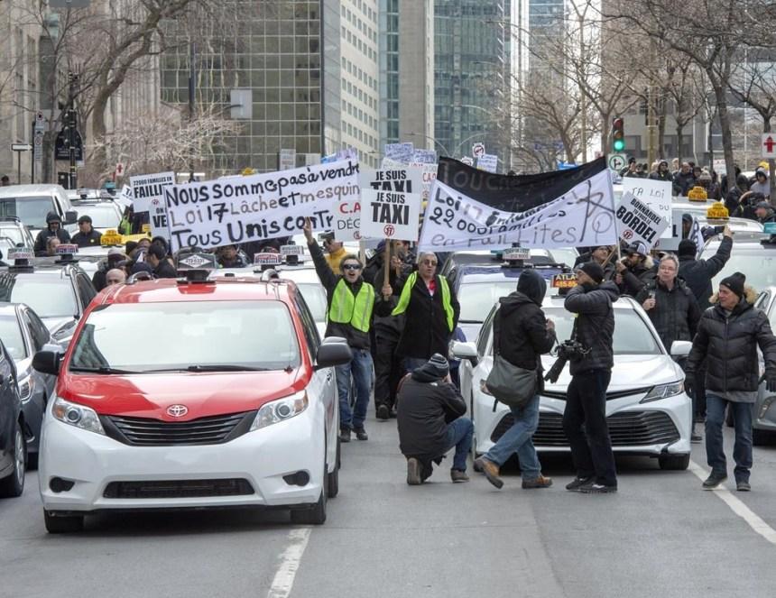 Consultation sur la réforme: des chauffeurs de taxi manifesteront demain à Québec