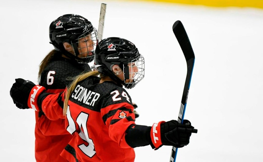 Le Canada rosse la Russie 7-0 et obtient le bronze au Mondial de hockey féminin