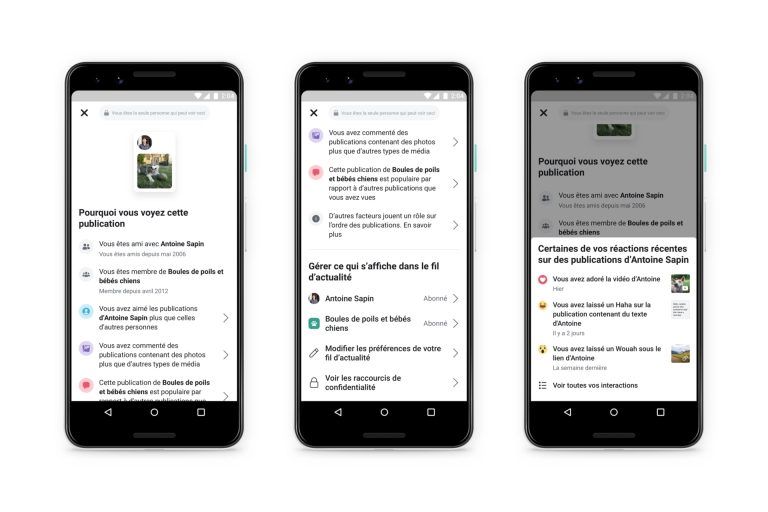 Facebook veut rendre plus transparente la gestion de son fil d'actualité