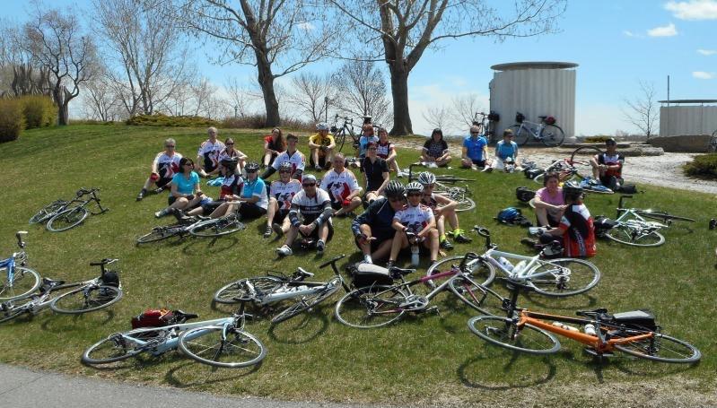 Ouverture de la saison pour le Club de vélo Île-des-Sœurs