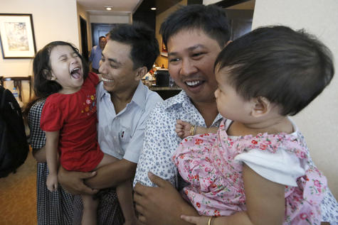 La Birmanie libère deux journalistes au coeur d'une mobilisation mondiale