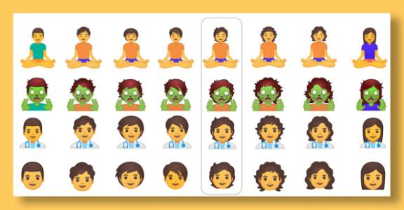 Google dévoile 53 nouveaux emojis moins sexués