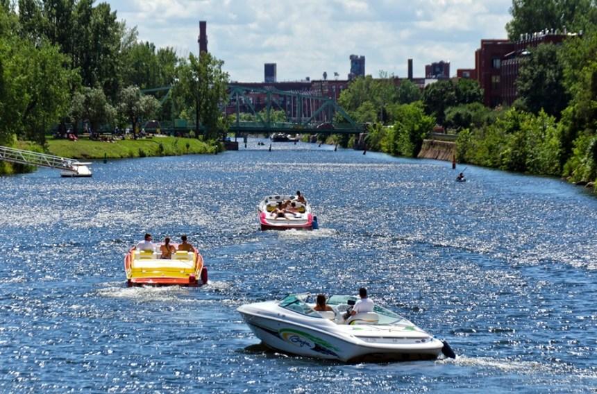 La navigation est ouverte sur le canal de Lachine