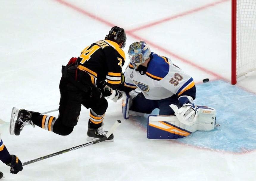 Les Blues devront ralentir les Bruins lors du deuxième match de la finale