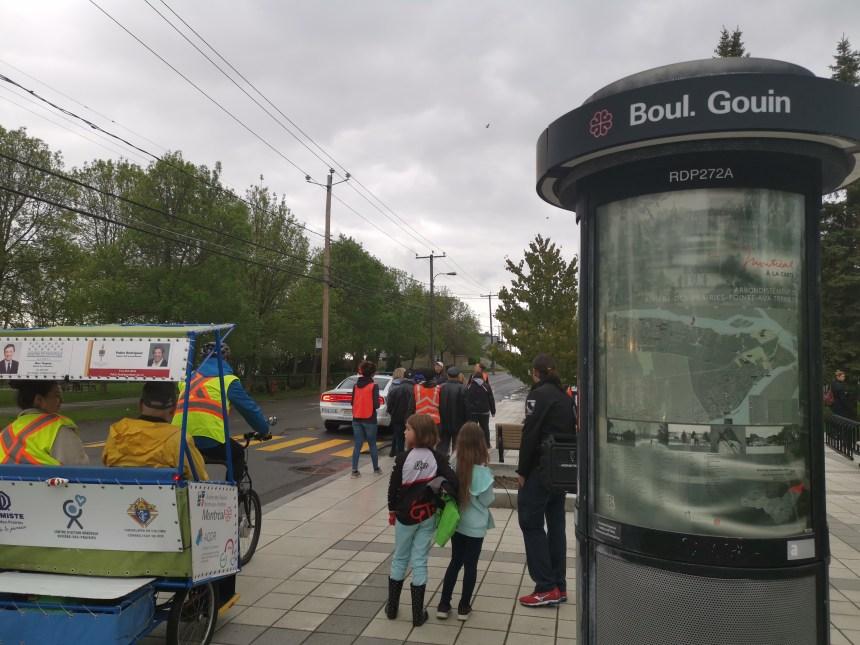 Des citoyens sur le terrain pour le Boulevard Gouin