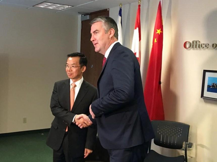 L'ambassadeur de Chine fait un deuxième voyage en Nouvelle-Écosse