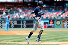 Christian Yelich rate un autre match des Brewers à cause de maux de dos