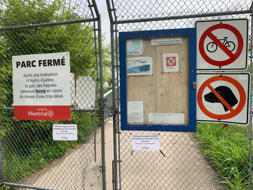 Fermeture temporaire du parc des Rapides