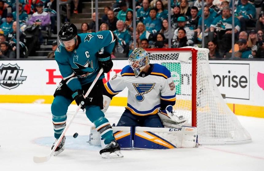 Les Blues passent en finale de la Coupe Stanley après avoir battu les Sharks 5-1