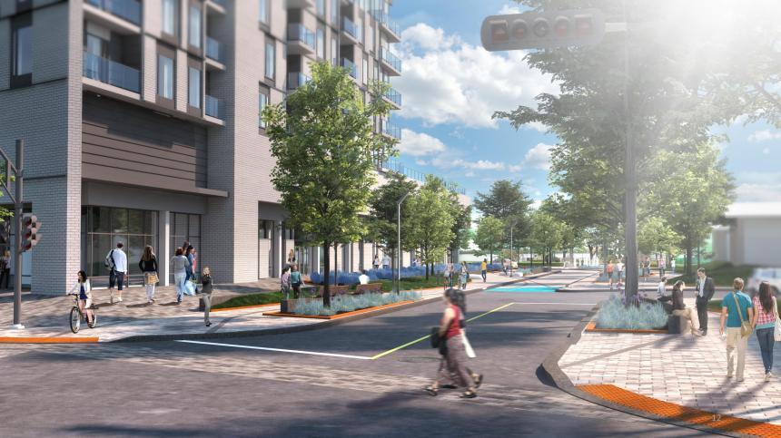Début du chantier de revitalisation de l'Avenue Broadway à Montréal-Est