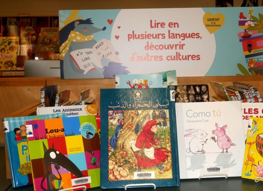 Des livres dans toutes les langues à la bibliothèque Salaberry