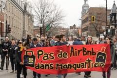 Une marche contre les Airbnb «illégaux» paralyse une partie de l'avenue Mont-Royal
