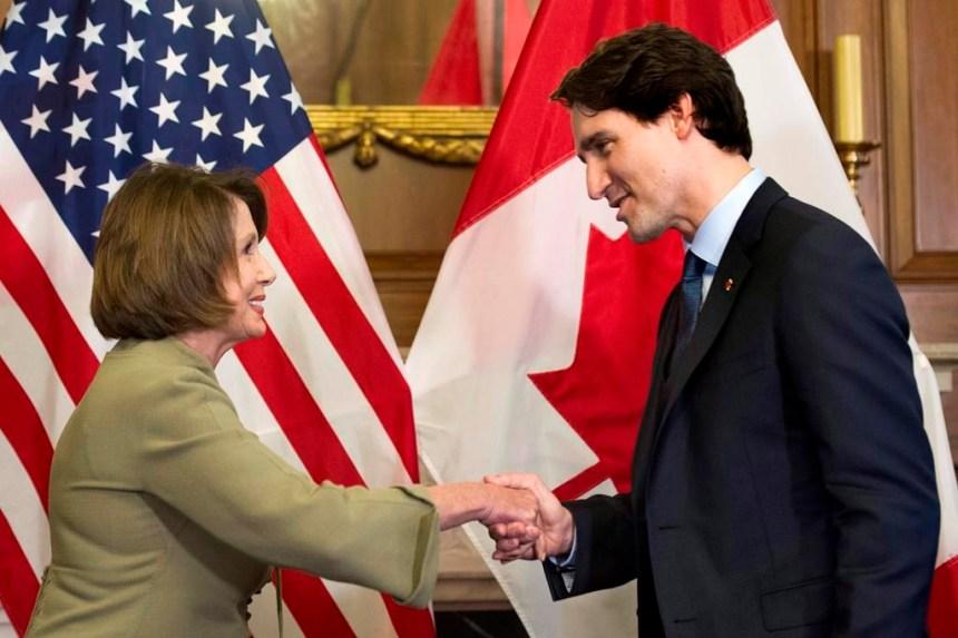 Justin Trudeau et Nancy Pelosi font un pari amical sur la finale de la NBA