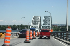 Pont H.-Mercier: les travaux jusqu'au 20 juillet nuisent déjà à la circulation